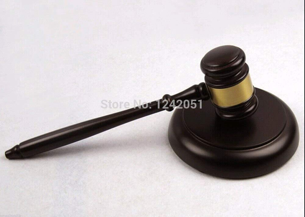 CHUN-Accessory - Wooden Handcrafted Wood Gavel Sound Block for Lawyer Judge Auction Sale by CHUN-Accessory