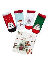 6pairs Baby Kids Cartoon Christmas Holiday Toddler Children's Socks by SHOWEET