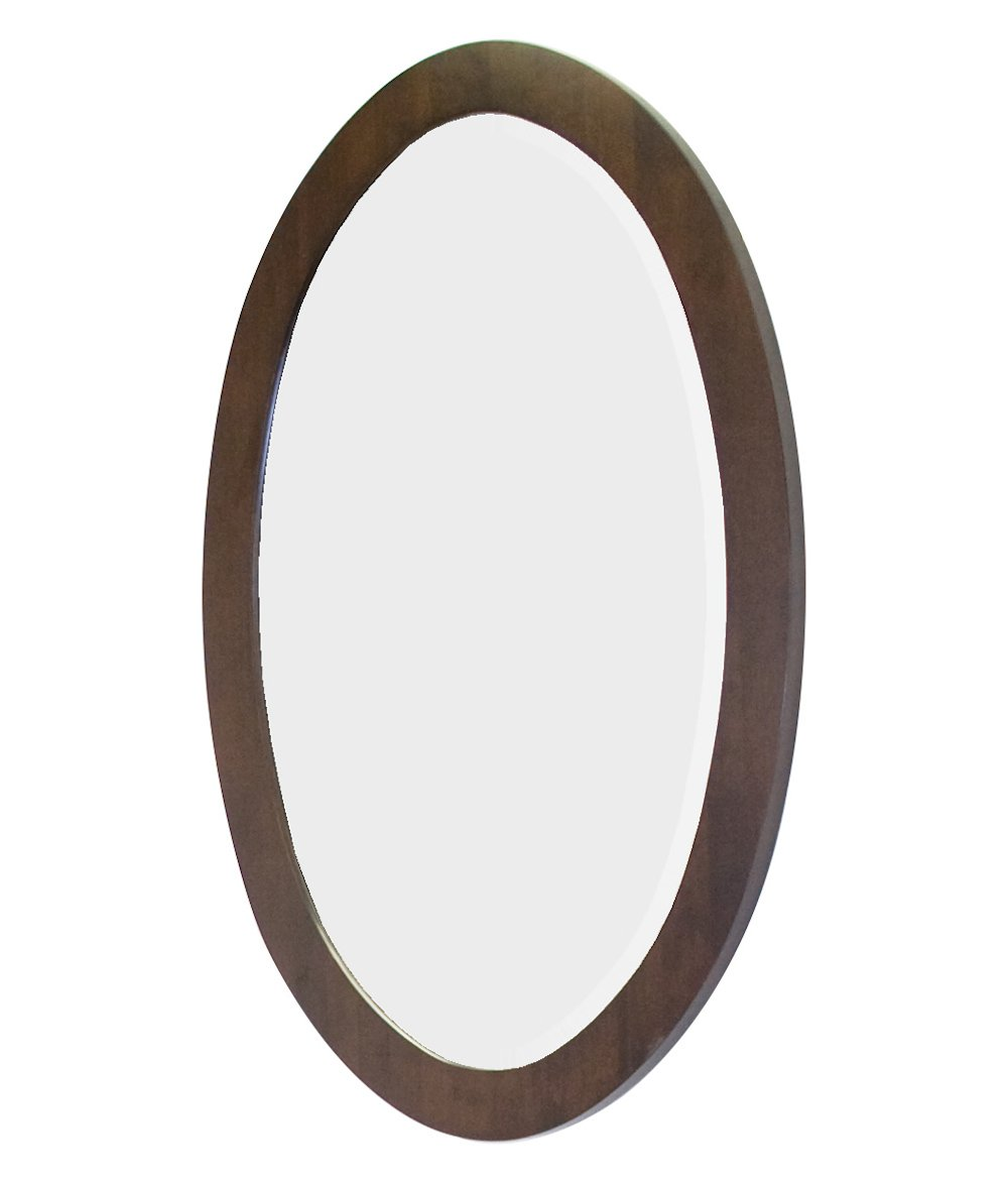 24-in. W x 36-in. H Transitional Birch Wood-Veneer Wood Mirror In Walnut IMG Imports Inc. AI-12-655