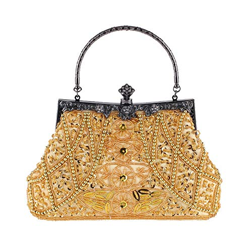 de de nupcial Girls de la del embrague la Rhinestone Bolso de Womens Caja fiesta boda de seoras de vendimia del Crystal la Clutch de Ladies del tarde Oro monedero Oro las Color las mujeres embrague 15qxwYX