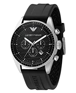 Emporio Armani Watch, Men's Chronograph Black Rubber Strap AR0527