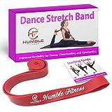 Humble Fitness bandas elásticas de danza para flexibilidad, bandas elásticas para bailarinas, gimnasia, animadora, banda elástica de ballet, correa de estiramiento perfecta para animación, ballet y gimnasia