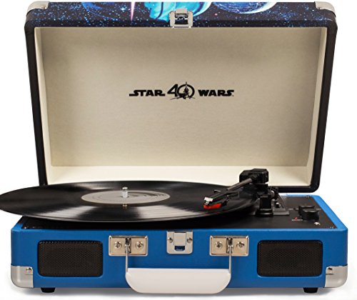 Crosley Cruiser Deluxe Vintage 3-Speed Bluetooth Suitcase Turntable, Star Wars