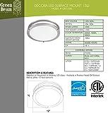 Green Beam 12 Inch Dimmable Sleek Brushed Nickel