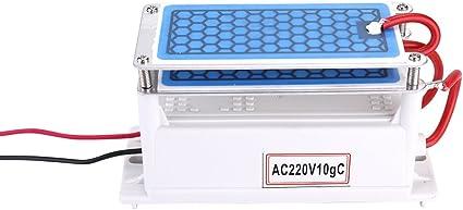 h Purificatore daria per acqua portatile con ozono a piastra integrato doppio generatore di ozono in ceramica portatile 10g