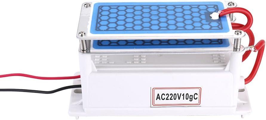 KKmoon Purificatore Daria in Ceramica Portatile con Piastra Integrata in Ozono per Generatore di Ozono per Auto 10g//h
