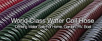 Water Right Professional Coil Garden Hose, Lead Free & Drinking Water Safe, 50-Foot x 3/8-Inch, Espresso