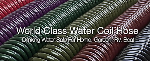 Water Right Professional Coil Garden Hose, Lead Free & Drinking Water Safe, 50-Foot x 3/8-Inch, Olive Green
