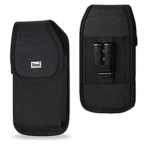 For Samsung Galaxy J3 / S7 / S6 / S6 Edge / S5 Reiko Rugged Heavy Duty Pouch Case W/ Black Metal Belt Clip (Fits With Silicone / Thin Hybrid Case On) and Zoomazig Stylus by Zoomazig