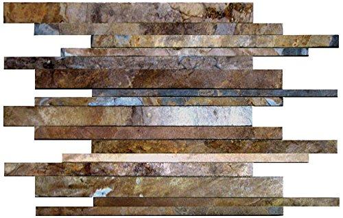 Dal-Tile S700VERTIXMS1P- Slate Tile, California Gold Vertix Mosaic Natural Cleft