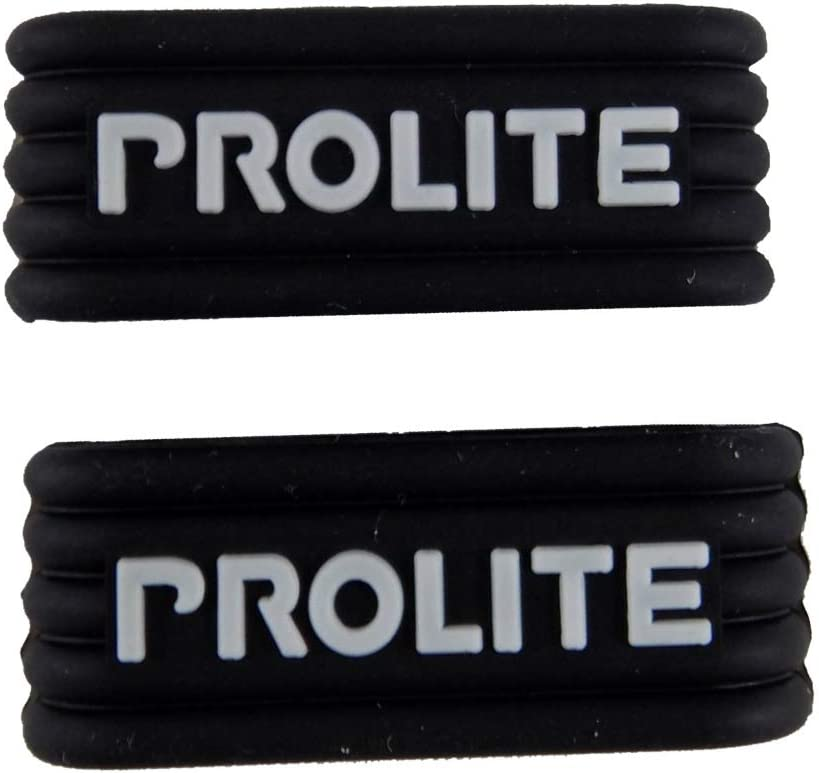 Tennis /& Racquetball Racquets Prolite Grip Bands Black Silicone Band w//Embossed Prolite Logo On Both Sides Perfect for Pickleball Paddles One Size Fits All Holds Your Grip in Place 2 Pack