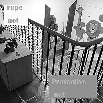 Wlh Balcón y Escalera al Aire Libre Barandilla Red de Seguridad para niños Red de Interior Segura Porche Patio Escaleras Red de Nylon Red de decoración del Parque (Size : 10×3): Amazon.es: