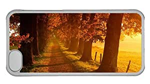 Hipster for sale iPhone 5C cover Autumn Landscape Scenery PC Transparent for Apple iPhone 5C
