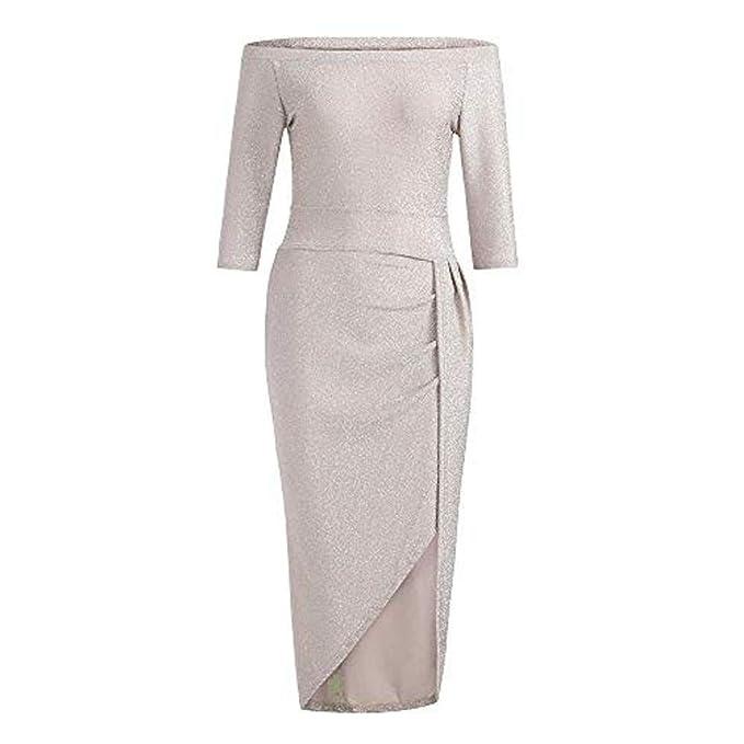 6754f8f6ea8a UJUNAOR Vestito Donna Senza Spalline Abito Donna Eleganti da Cerimonia  Abito Donna Sexy Taglia S-XXL  Amazon.it  Abbigliamento