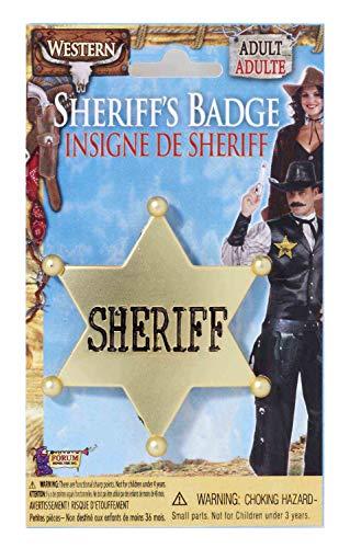 (Forum Novelties Sheriff Star Badge - Plastic, One Size, Gold)