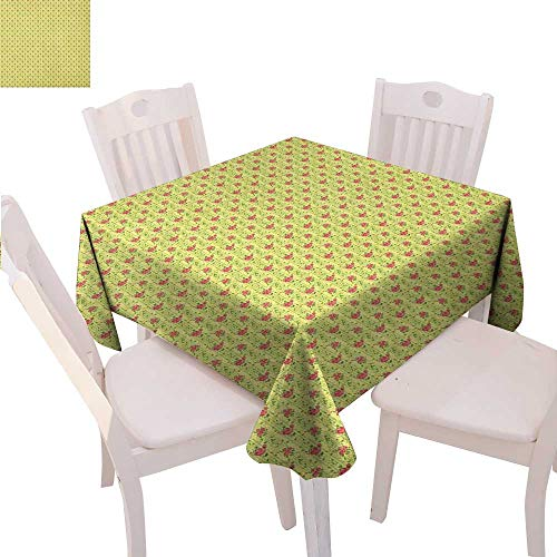 John Deere Tapestry - Spring Customized Tablecloth Flourishing Roses with Leaves on Striped Pastel Green Background Tablecloth That can be Used as a Tapestry 54