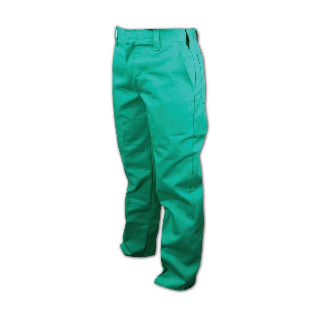 Magid Glove & Safety 2831-34X36 Magid Spark Guard FR 12 oz. Cotton Pants, 44x28, Green, 34x36