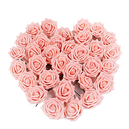 Artificial Silk Kissing Flower Ball Bouquet Wedding (light green) - 5