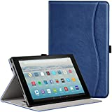 Ztotop Folio Case for All-New Fire HD 10 Tablet (2017 Release, 7th Generation) - Smart Cover Slim Folding Stand Case with Auto Wake/Sleep for All-New Fire HD 10 Tablet,Navyblue