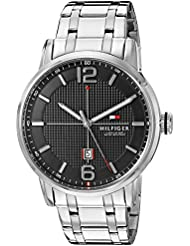 Tommy Hilfiger Mens 1791215 George Analog Display Japanese Quartz Silver-Tone Watch