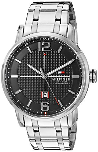 Tommy Hilfiger Men's 1791215 George Analog Display Japanese Quartz Silver-Tone Watch
