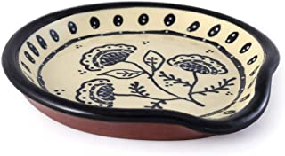 product image for American Made Terracotta Pottery Kitchen Spoon Rest, Queen Anne's Lace