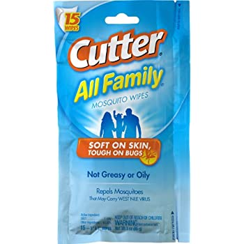 Cutter All Family Mosquito Wipes (HG-95838) (15 wipes)