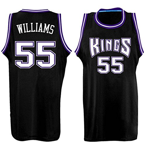 Men's Adult #55 Jason Williams Jersey Black - Sacramento Kings Jersey