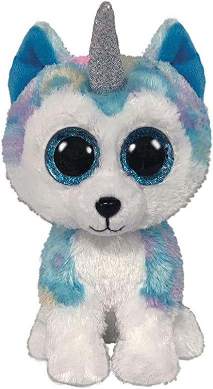 Stuffed Squirrel Animals, Amazon Com Claire S Official Ty Beanie Boo Helena The Unicorn Husky Soft Plush Toy For Girls Blue With White Small Stocking Stuffer 6 Inches Toys Games