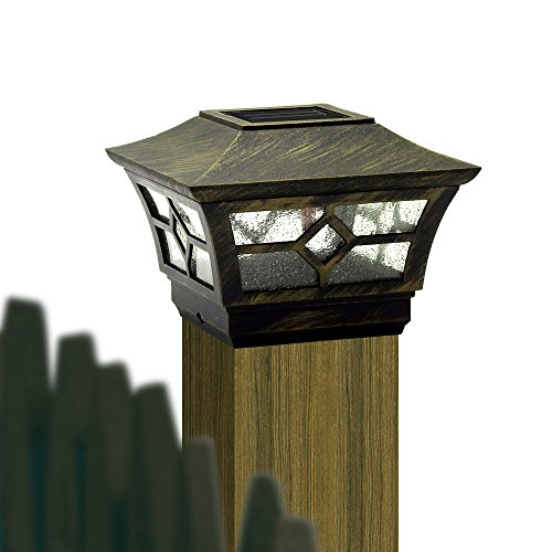 Cheekon Square Fences Post Caps Solar Lights Compatible