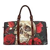 Cheap Custom Skull Art Waterproof Travel Tote Bag Duffel Bag Crossbody Luggage handbag