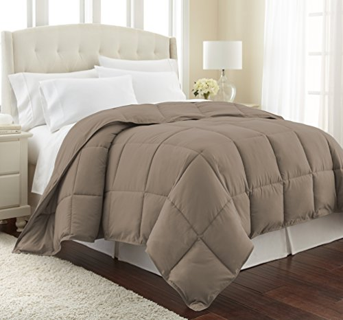 Southshore Fine Linens  Vilno Springs  Down Alternate Medium Weight Comforter  Dark Taupe Full/Queen