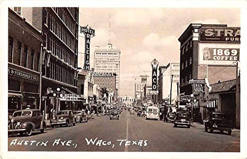 Waco Texas Austin Avenue Greyhound Bus Depot Real Photo Postcard JC933040 ()
