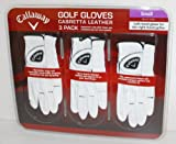 Callaway Premium Cabretta Leather Golf Gloves, Small, 3-Pack