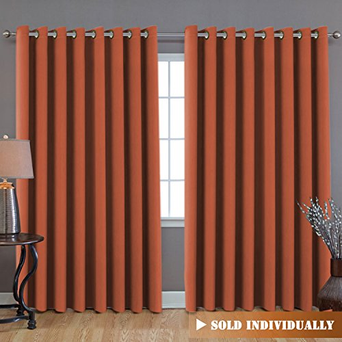 (H.VERSAILTEX Blackout Patio Curtains, Extra Long and Wider (100