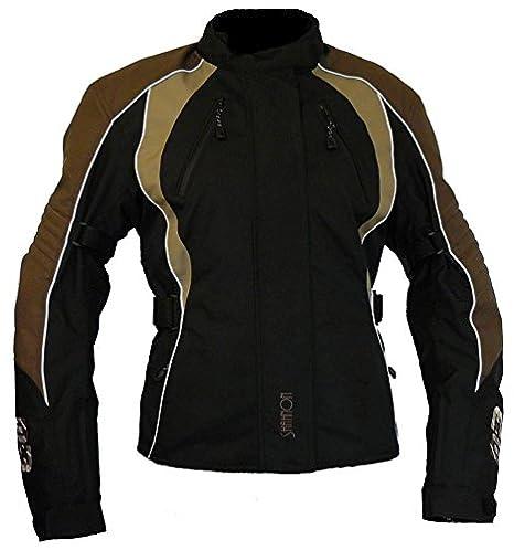 Protect Wear Chaqueta de Motorista, Textil chaqueta para mujer TJ de 712215 de BR - Brown, talla 36/38: Amazon.es: Coche y moto