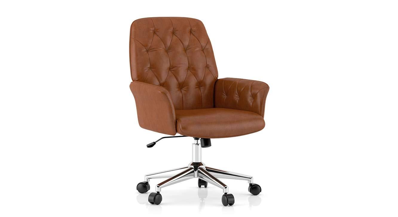 Urban Ladder Helga Study Chair, Colour :Tan: Amazon.in: Home & Kitchen