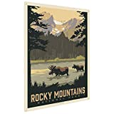 Anderson Design Group Rocky Mountain National Park Sprague Lake 9''x12'' Metal Art Print, Home Decor for Office, Nursery, Patio, Garage, Cabin, or Vacation Home
