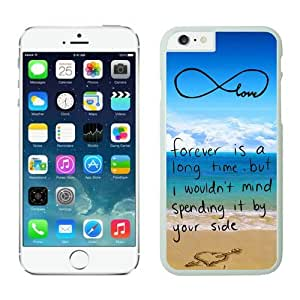 Iphone 6 Plus Case 5.5 Inches, Elegant Cute White Phone Protective Cover Case for Apple Iphone 6 Plus Mobile Accessories infinity anchor with love and sandy beach design