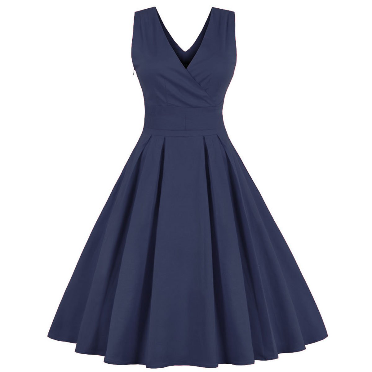 Yuxin Women s V-Neck Vintage 1950s Retro Cocktail Dress Rockabilly Prom  Dresses Party Gown at Amazon Women s Clothing store  dbadd7700