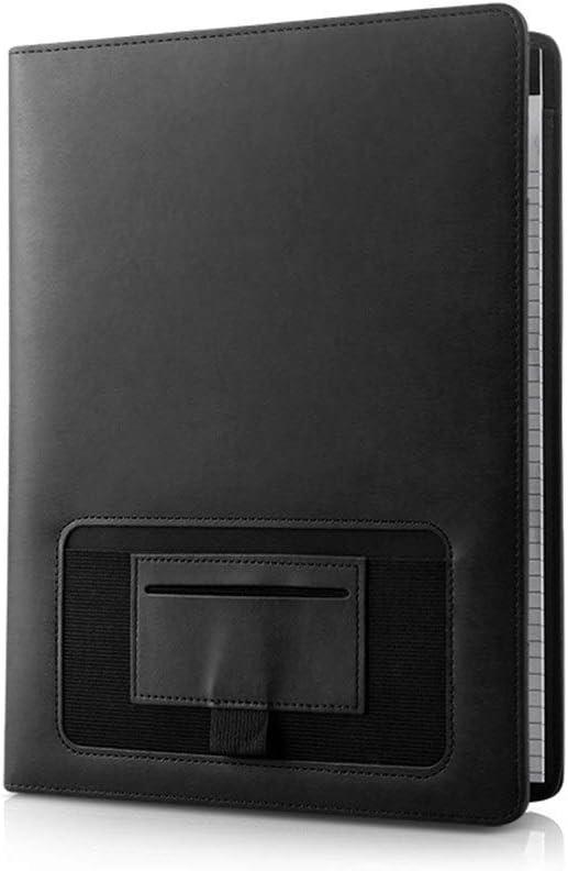 Yzibei Organizador de Carpetas de Documentos Documento Cuaderno De Cuero Documento De Negocios Titular De La Combinación De La Bolsa Entrevista con Soporte Plegable para Tableta iPad