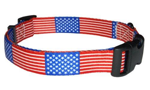 USA Flag Collar - Size Large