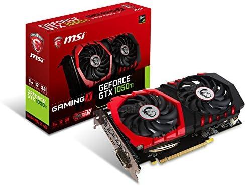 MSI Computer Video Graphic Cards GeForce GTX 1050 TI Gaming X 4G, 4GB