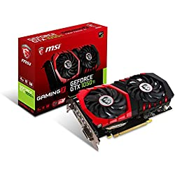 MSI GAMING GeForce GTX 1050 Ti 4GB GDRR5 128-bit HDCP Support DirectX 12 TORX 2.0 Fan Graphics Card (GTX 1050 TI GAMING X 4G)