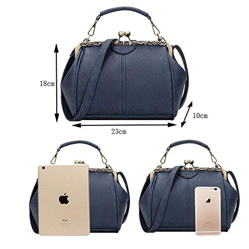 Abuyall Shoulder Satchel Kiss Bag Handbag Pu Lock Leather Pt1 Crossbag Purse Retro Totes PSrwYgWqP