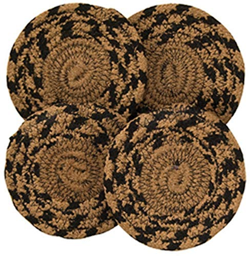 Country Crafts Braided Ebony Coaster G01577