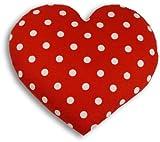 Leschi Warming pillow (for the tummy) | 36832 | Warming Heart | big | Colour: Polka dot red