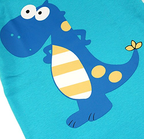 Boys Pajamas Boys Dinosaur Little Kid Shorts Set 100% Cotton Clothes Short Sleeves Sleepwear 8Y by shelry (Image #5)