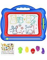 Geekper Magnetisk ritbräda, Magna Doodle Doodle Doodle Doodle Plett, 41 x 33 cm, Magna Doodle Pad med 5 stämplar och vackert klistermärke för barn, att skriva och skissa
