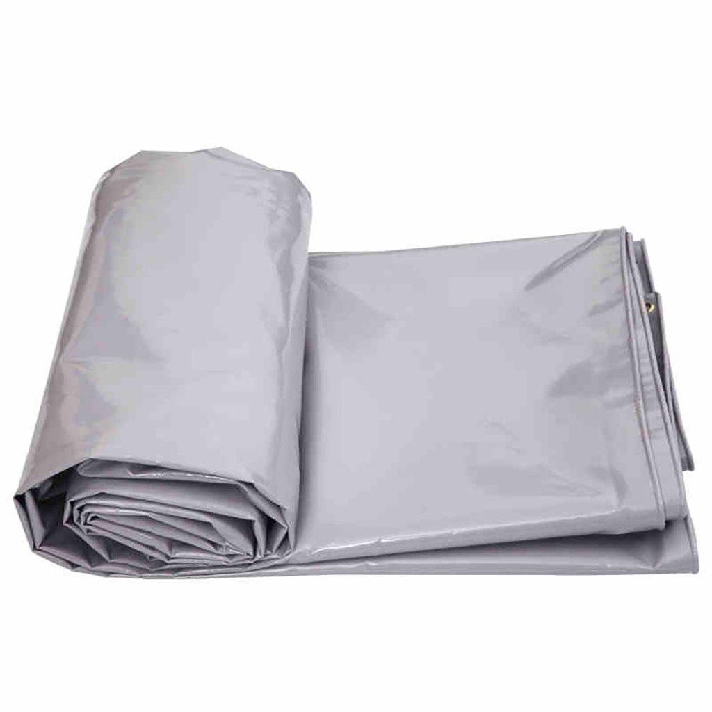 ターポリン高強度厚いPVC防雨トラック区画貨物ヤードヤードテント布屋外0.6ミリメートル650グラム/m2グレー4サイズ (サイズ さいず : 3*3m) B07DFW6JC4 3*3m  3*3m
